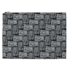 Gray Pattern Cosmetic Bag (xxl)  by Valentinaart