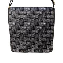 Gray Pattern Flap Messenger Bag (l)  by Valentinaart