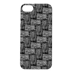 Gray Pattern Apple Iphone 5s/ Se Hardshell Case by Valentinaart