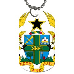 Coat Of Arms Of Ghana Dog Tag (one Side) by abbeyz71