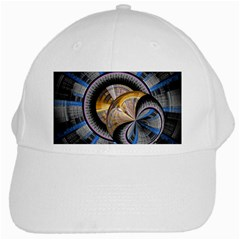 Fractal Tech Disc Background White Cap by Simbadda