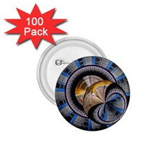 Fractal Tech Disc Background 1 75  Buttons (100 Pack)  by Simbadda