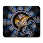Fractal Tech Disc Background Large Mousepads Front