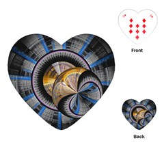 Fractal Tech Disc Background Playing Cards (heart)  by Simbadda