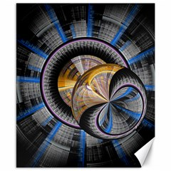 Fractal Tech Disc Background Canvas 8  X 10  by Simbadda