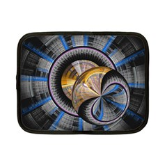 Fractal Tech Disc Background Netbook Case (small)  by Simbadda