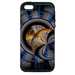 Fractal Tech Disc Background Apple Iphone 5 Hardshell Case (pc+silicone) by Simbadda