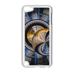 Fractal Tech Disc Background Apple Ipod Touch 5 Case (white) by Simbadda