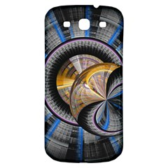 Fractal Tech Disc Background Samsung Galaxy S3 S Iii Classic Hardshell Back Case by Simbadda