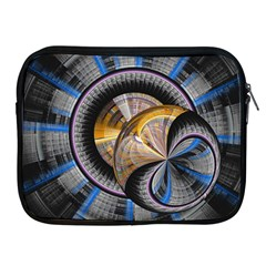 Fractal Tech Disc Background Apple Ipad 2/3/4 Zipper Cases by Simbadda