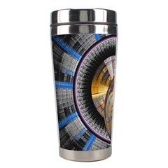 Fractal Tech Disc Background Stainless Steel Travel Tumblers by Simbadda