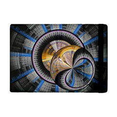 Fractal Tech Disc Background Ipad Mini 2 Flip Cases by Simbadda