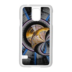 Fractal Tech Disc Background Samsung Galaxy S5 Case (white) by Simbadda
