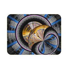 Fractal Tech Disc Background Double Sided Flano Blanket (mini)  by Simbadda