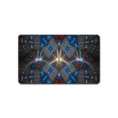 Fancy Fractal Pattern Magnet (name Card) by Simbadda
