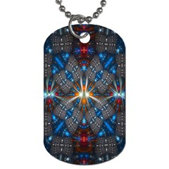 Fancy Fractal Pattern Dog Tag (One Side)