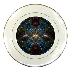 Fancy Fractal Pattern Porcelain Plates by Simbadda