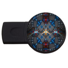 Fancy Fractal Pattern Usb Flash Drive Round (4 Gb) by Simbadda