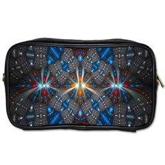 Fancy Fractal Pattern Toiletries Bags 2 Side by Simbadda
