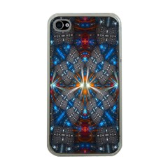 Fancy Fractal Pattern Apple Iphone 4 Case (clear) by Simbadda