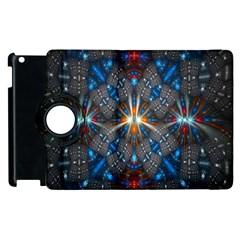 Fancy Fractal Pattern Apple Ipad 3/4 Flip 360 Case by Simbadda