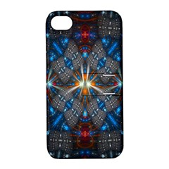 Fancy Fractal Pattern Apple Iphone 4/4s Hardshell Case With Stand by Simbadda