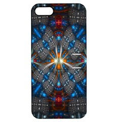 Fancy Fractal Pattern Apple Iphone 5 Hardshell Case With Stand by Simbadda