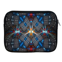 Fancy Fractal Pattern Apple Ipad 2/3/4 Zipper Cases by Simbadda