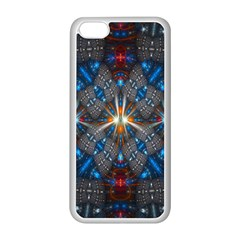 Fancy Fractal Pattern Apple Iphone 5c Seamless Case (white) by Simbadda