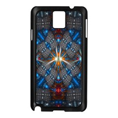 Fancy Fractal Pattern Samsung Galaxy Note 3 N9005 Case (black) by Simbadda