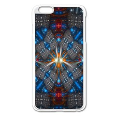 Fancy Fractal Pattern Apple Iphone 6 Plus/6s Plus Enamel White Case by Simbadda