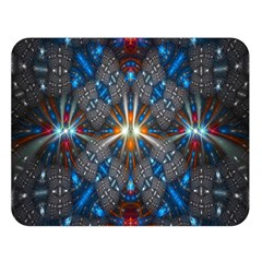 Fancy Fractal Pattern Double Sided Flano Blanket (large)  by Simbadda