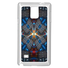 Fancy Fractal Pattern Samsung Galaxy Note 4 Case (white) by Simbadda