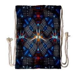 Fancy Fractal Pattern Drawstring Bag (large) by Simbadda