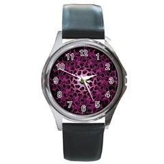 Cool Fractal Round Metal Watch by Simbadda