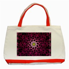 Cool Fractal Classic Tote Bag (red) by Simbadda