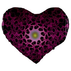 Cool Fractal Large 19  Premium Heart Shape Cushions by Simbadda