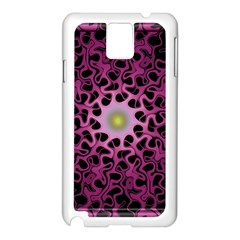 Cool Fractal Samsung Galaxy Note 3 N9005 Case (white) by Simbadda