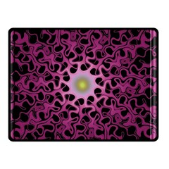 Cool Fractal Double Sided Fleece Blanket (small)  by Simbadda