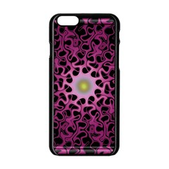 Cool Fractal Apple Iphone 6/6s Black Enamel Case by Simbadda