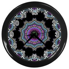 Fractal Lace Wall Clocks (black) by Simbadda