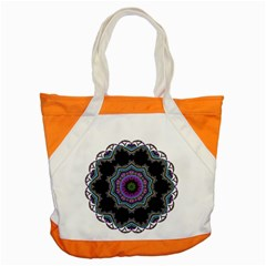 Fractal Lace Accent Tote Bag by Simbadda