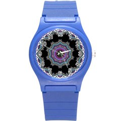 Fractal Lace Round Plastic Sport Watch (s) by Simbadda