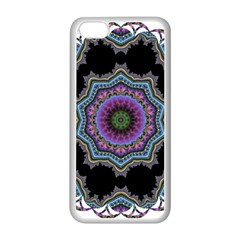 Fractal Lace Apple Iphone 5c Seamless Case (white) by Simbadda