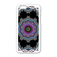 Fractal Lace Apple Iphone 6/6s White Enamel Case by Simbadda