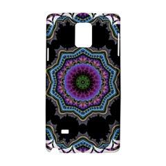 Fractal Lace Samsung Galaxy Note 4 Hardshell Case by Simbadda