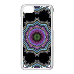 Fractal Lace Apple Iphone 7 Seamless Case (white) by Simbadda