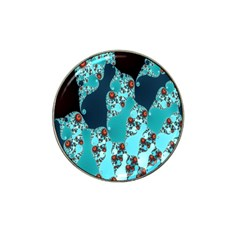 Decorative Fractal Background Hat Clip Ball Marker (4 Pack) by Simbadda