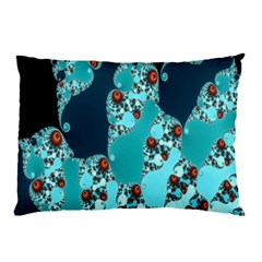 Decorative Fractal Background Pillow Case by Simbadda