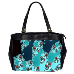 Decorative Fractal Background Office Handbags (2 Sides)  by Simbadda